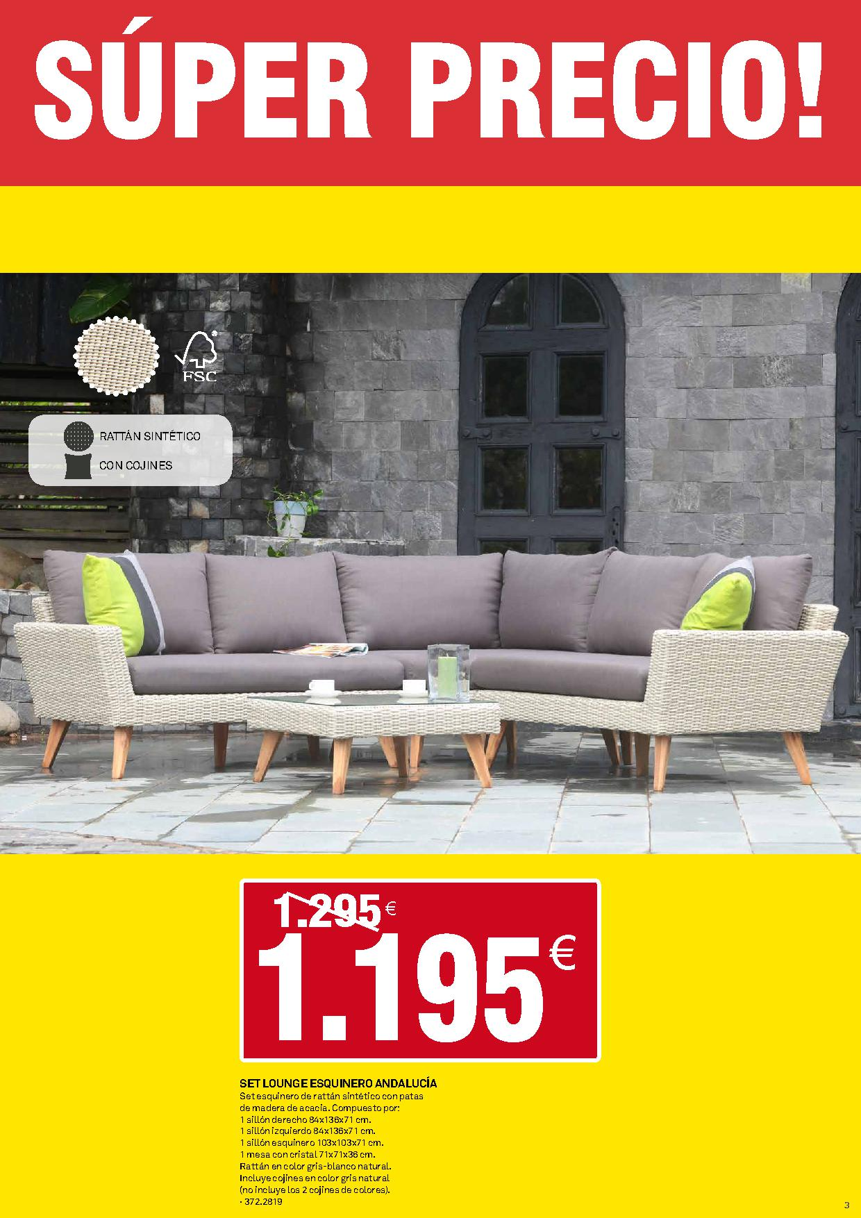 Muebles de jard n en cat logo bricoking 2017 imuebles - Muebles edem catalogo 2017 ...
