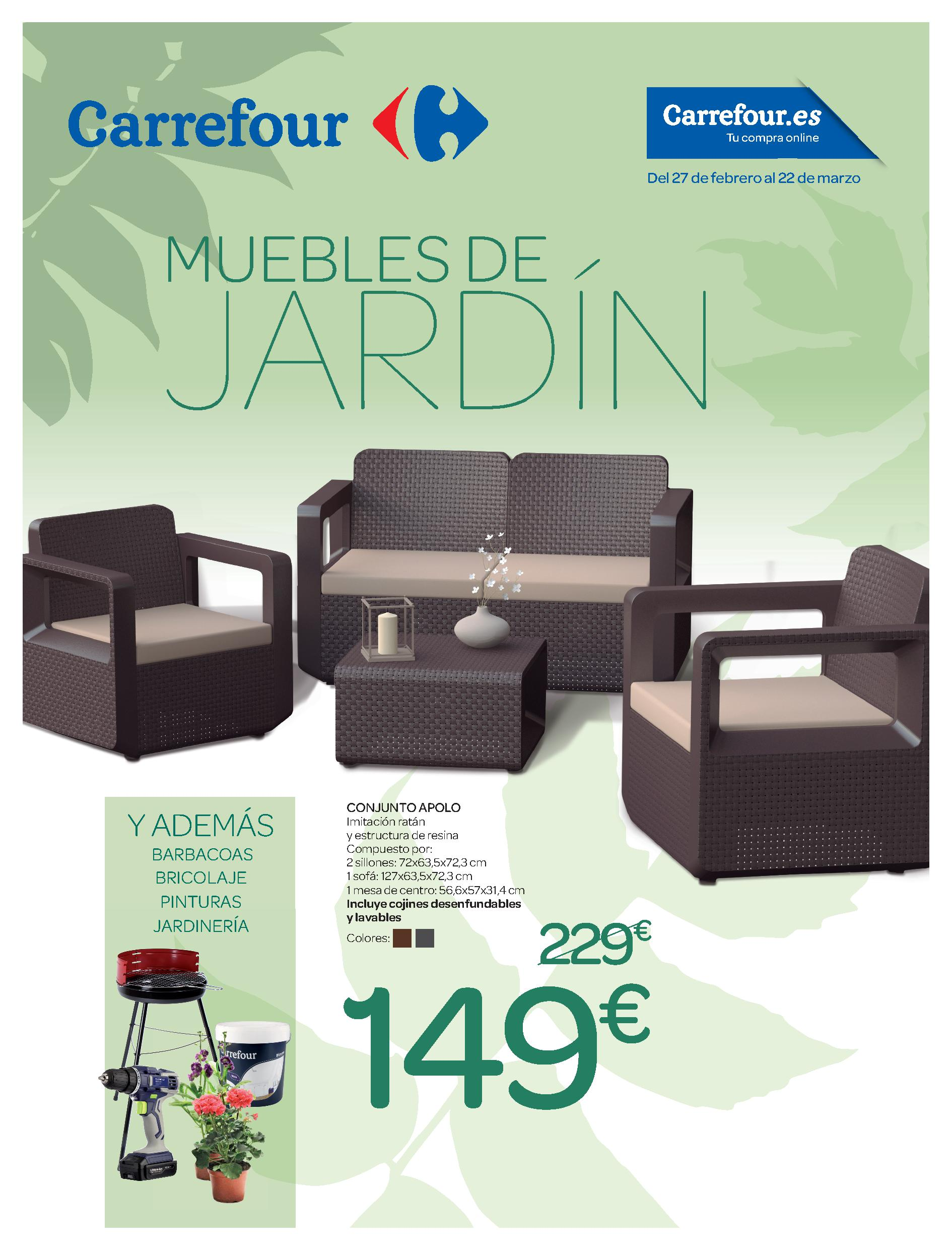 muebles de jard n cat logo de carrefour 2018 imuebles. Black Bedroom Furniture Sets. Home Design Ideas